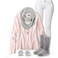 grej & pink set