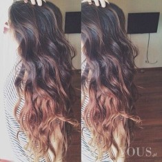 Śliczne ombre na długich włosach