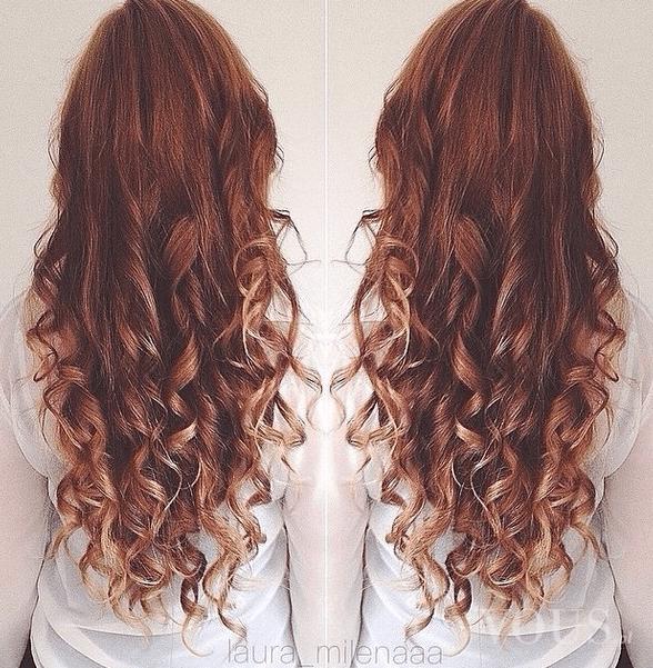 Długie Kasztanowe Kręcone Włosy ⋆ Vous Pl