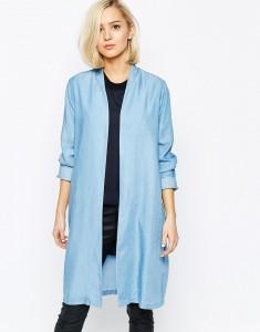 Płaszcz błękitny ASOS – idealny na wiosne
