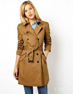 Krótki płaszcz camel brązowy ASOS idealny na jesień
