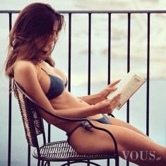 Idealne ciało, napracowała się. pora na książkę…