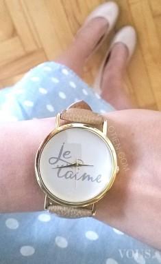 Zegarek OTIEN, Zegarki, które wyrażają miłość z napisem Je T'aime – Kocham Cię –