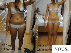 Metamorfoza, przed i po odchudzaniu. Schudła z 67,5 kg do 61,5 kg!