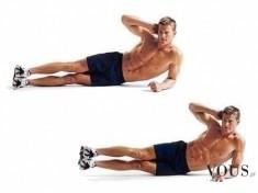 Ćwiczenie na mięśnie skośne brzucha dla średnio zaawansowanych
