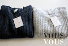 Sweterki idealne na zimę, ciepłe swetry, czarny i biały
