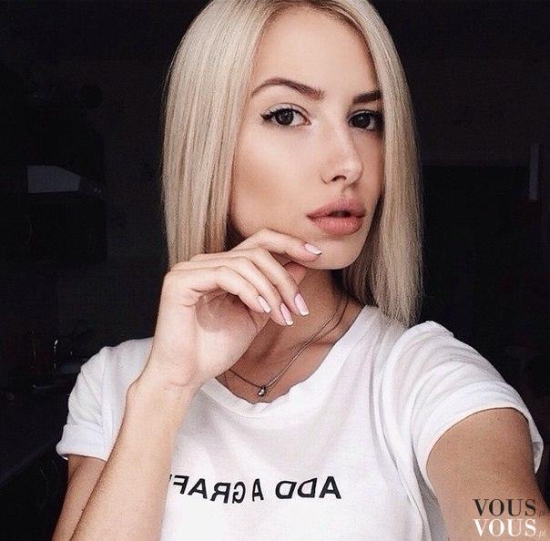 Krótkie Blond Włosy Fryzura Bob Vouspl