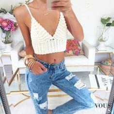 letnia stylizacja z dżinsami