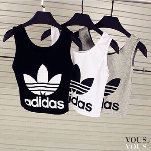 9f735f99a09163 Sportowe bluzki z adidas: szara, czarna i biała. W sam raz na trening