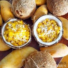 Sałatka z batatów i kokosem