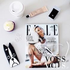 Stylowe dodatki: gazeta / magazyn ELLE, iPhone, case / obudowa / etui piesek, pies, serca