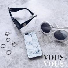 Stylowe dodatki: marmurkowa obudowa na iPhone, etui, case, okulary DIOR, pierścionki