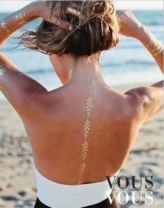 Złote tatuaże zmywalne jak zrobić? Jak długo złoty tatuaż jest wypukły?