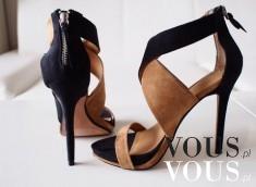Piękne sandały na szpilce w kolorze czarny i brąz