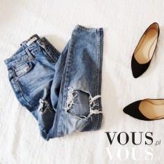 Dżinsy z dziurami, przetarcia na spodniach i poszarpane nogawki są teraz bardzo modne. Lubisz ta ...
