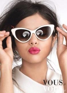 Kocie okulary z białymi oprawkami