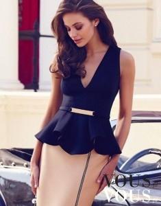 Elegancka stylizacja ze spódnicą za kolano