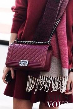 Bordowa torebka Chanel