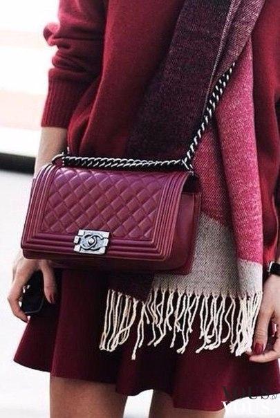Bordowa Torebka Chanel ‹� Vous Pl