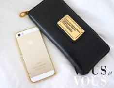 Złoty iPhone i stylowy portfel