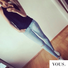 Piękna figura! Idealne długie nogi. Jeansy
