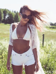 Letni biała stylizacja