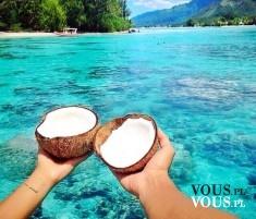 Mleko kokosowe, czy mleko kokosowe jest zdrowe? Wakacje na wyspie, rajska wyspa