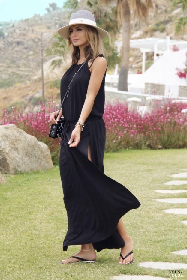 70d716b423 długa sukienka maxi