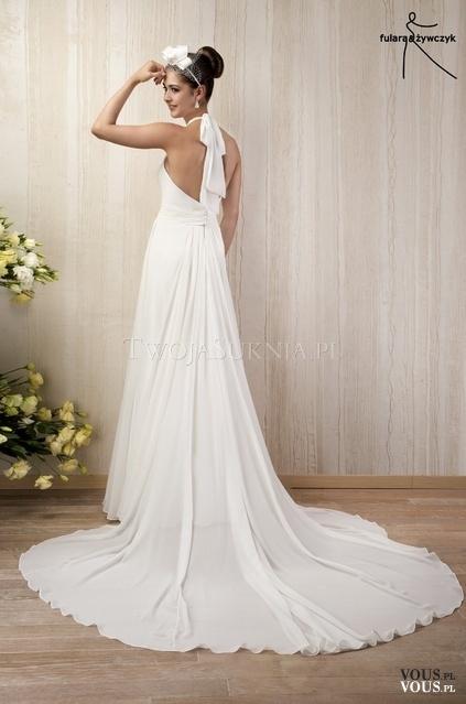 Suknia ślubna Z Długim Trenem Vouspl