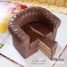 ciasto w kształcie fotela, sztuka cukiernicza
