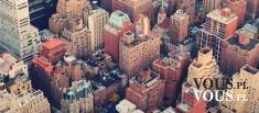 widok miasta z góry, miasto w USA, nowy jork, miasto z lotu ptaka