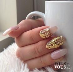Niesamowity złoty manicure!! Jak zrobić takie paznokcie?