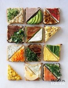 Pyszne zdrowe kanapki, kilka wersji kanapek, drugie śniadanie