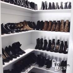 Szafa pełna butów, kolekcja butów, obuwie