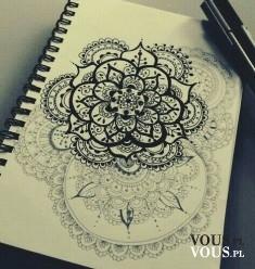 Koronkowy szkic. Piękny rysunek.