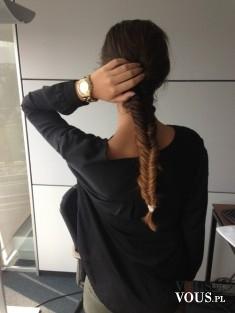 Kłos z długich włosów. Splecione włosy ombre- super efekt!
