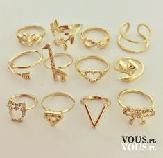 złote pierścionki, który pierścionek wybrać, ile pierścionków nosić