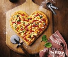 pizza w kształcie serca, pizza na walentynki, jaką pizze lubicie