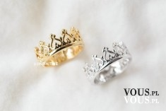 pierścionek dla królowej, pierścionki w kształcie korony
