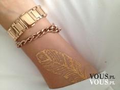 złoty tatuaż, złota biżuteria na dłoń, jak zrobić taki złoty tatuaż
