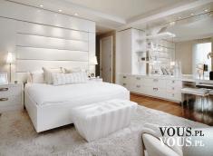 białas sypialnia, jak urządzić sypialnię, duże białe łóżko