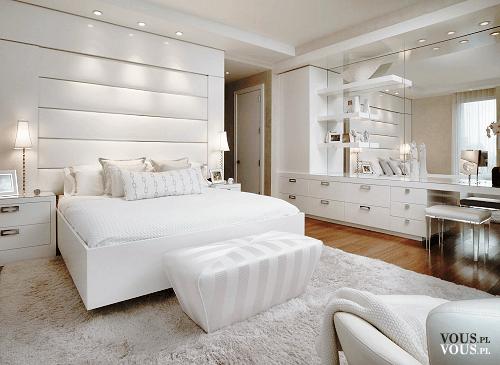 Białas Sypialnia Jak Urządzić Sypialnię Duże Białe łóżko