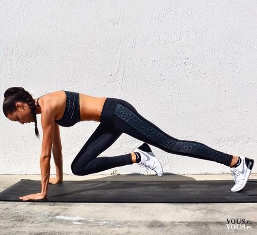 ćwiczenia na brzuch, efekty ćwiczeń na brzuch, mountain climbers