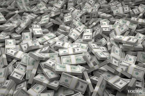 Kupa forsy. Masa pieniędzy. Dolary. Co kupiłybyście za taką kasę?