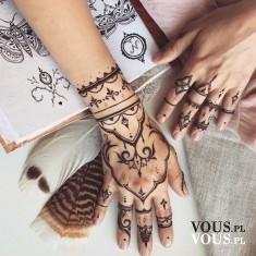 Tatuaże na dłoniach, etno tatuaże, tattoo, znikające tatuaże, henna tatuaż