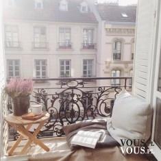 Stylowy balkon idealny do czytania
