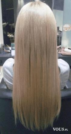 proste blond włosy, salon fryzjerki