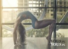 Cudowne wygimnastykowane kobiece ciało.