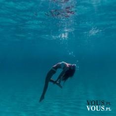 pływanie w czystej wodzie