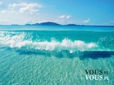 krystalicznie czyste morze, wakacje nad morzem, lazurowy ocean
